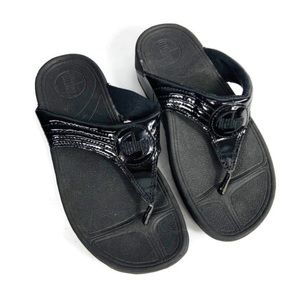 Fitflop Black Get A Work Out While You Walk Sandal
